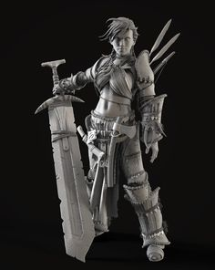Barbarian Woman by Reza Abedi | Fantasy | 3D | CGSociety