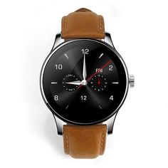 Smart Bluetooth Watch Heart Rate Monitor Smartwatch Siri Function Gesture Control LEATHER BAND Brown *** You can get more details by clicking on the image. Sport Watches, Cool Watches, Watch Mobile Phone, Bluetooth Watch, Remote Camera, Heart Rate Monitor, Watch Bands, Consumer Electronics, Smart Watch