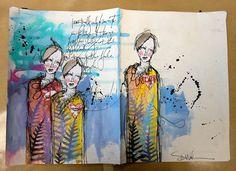 art by Dina Wakley