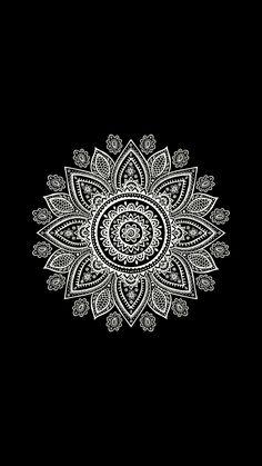 Black and White Mandala Wallpaper Black And White Wallpaper Phone, Black Background Wallpaper, Wallpaper Backgrounds, Cute Wallpapers, Iphone Wallpaper Mandala, Hippie Wallpaper, Cellphone Wallpaper, Mandala Wallpapers, Mandala Artwork