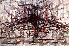 """ENTRE la revue artistique créative // n°11 """"Arbres"""" // ENTREmêler // Piet Mondrian, """"L'arbre rouge"""" // www.revue-entre.fr"""