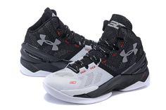 ba8aa5d9111c Under Armour Charged™ Anafoam II High Basketball Shoes Black White Red   Under  Armour Speedform Running Shoes