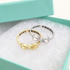 .925 Sterling silver BEST FRIENDS engraved with black ink Yellow Gold plated over .925 sterling silver One size US 6