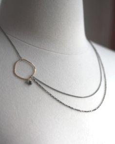 Asymmetrical Diamond Necklace by LexLuxe on Etsy