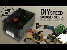 DIY speed controler box for all motor AC. i really need this coz i can modification drill and angle grinder for cutting or sanders. Easy for build and Bosch Circular Saw, Circular Saw Track, Festool Track Saw, Diy Ac, Motor Speed, Angle Grinder, Tracking System, Power Tools, Angles