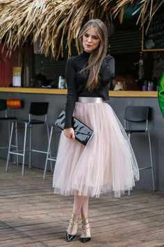 Feminine Looks Black Tulle Skirt Outfit Ideas 21 Black Tulle Skirt Outfit, Tulle Mini Skirt, Dress Skirt, Tulle Skirts, Tutu Skirt Women, Adult Tulle Skirt, Tiered Skirts, Dress Shoes, Shoes Heels
