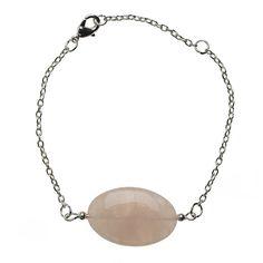 Rose Quartz & Silver Armband