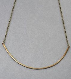 Arc Brass Necklace