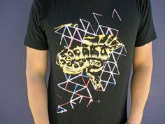 Black Unisex Ball Python Geometric Tshirt by BrokenArrowApparels, $18.00