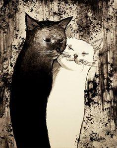 """TAKE CARE OF OTHER TO FORGET YOURSELF"" Original painting by Raphaël Vavasseur art Original painting: http://ift.tt/2rIYTLD Fine art prints: http://ift.tt/2gCtCFN"