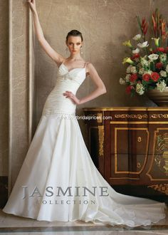 Jasmine Collection Style F263 Color: Ivory Size 12
