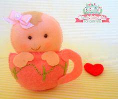 Lembrancinha Chá de Bebê - bebê na xícara