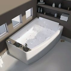 images like Baignoire balnéo Elba Curva, cm . visit us and get your ideas Jacuzzi Bathroom, Jacuzzi Tub, Exterior Design, Interior And Exterior, Deco Spa, Pool Care, Tub Cleaner, Spa Water, Dream Bath