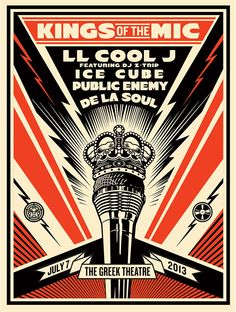 KINGS OF THE MIC by Obey Giant