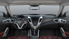 The Veloster interior. Most original interior I've seen in a while.