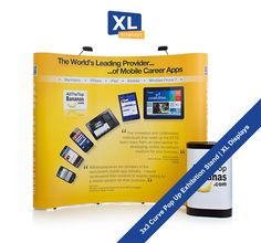 A pop-up exhibition stand is great way to promote your brand or marketing campaign at a low cost. Pop up displays can be set up by one person in under 10 minutes. Pop up kit shown here is a 3x3 curve pop-up stand. Everything shown here is just £497 + UK Delivery & VAT from http://www.xldisplays.co.uk - the best place in the UK to buy Pop Up display stands.