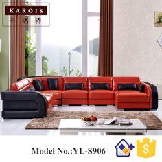 China Quality Supplier Große Menge Möbel Leder Ecksofa S906, Ledercouch