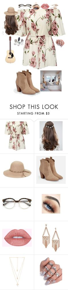 """""""My Cover of I Never Told You - Colbie Calliat -- Outfit & Guitar"""" by yellowandpinkbunny ❤ liked on Polyvore featuring ASOS, COLLECTION 18, JustFab, Kendra Scott and Natalie B"""