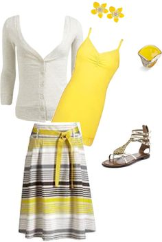"""yellow"" by classy92120 on Polyvore - minus the shoes"