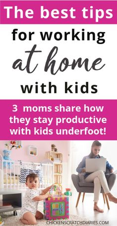 Trying to work at home with kids and be productive? These 3 moms share their best tips for how to get work done at home. Working Mom Tips, Work From Home Tips, Make Money From Home, Life Organization, Organizing Life, Making Extra Cash, Single Mom Quotes, Time Management Tips, Christian Parenting