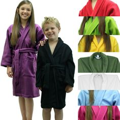 20b77e82e9 Soft Fleece Robe for Kids - Made in USA Spa Birthday Parties