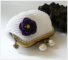"Pitusas & Petetes: ""White crochet purse"" (monedero de crochet blanco)"