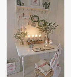 Déco de Noël : un bureau blanc