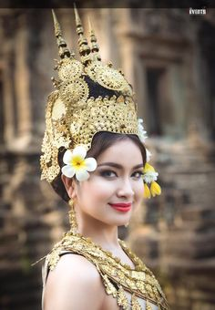 Robam Tep Apsara (របាំទេពអប្សរា, lit., Dance of the Apsara Divinities) is the title of a Khmer classical dance created by the Royal Ballet of Cambodia in the mid-20th century under the patronage of Queen Sisowath Kossamak. The Apsara is played by a woman, sewn into tight-fitting traditional dress,[1] whose graceful, sinuous gestures are codified to narrate classical myths or religious stories