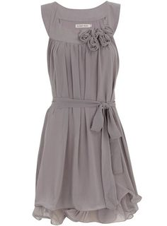 Love this grey dress!