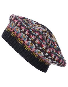 Make cosy Fairisle patterns your cold-weather pick-me-up with our Edie beret. This knitted hat showcases multi-coloured yarns and flecked metallic threads in...