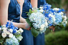 Blue boquets