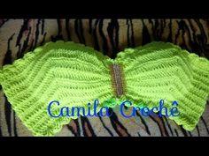 Crochet Box, Crochet Lace Edging, Knit Crochet, Crochet Hats, Bikinis Crochet, Crochet Bikini Pattern, Crochet Bikini Top, Knitting Videos, Crochet Videos