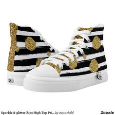 Sparkle & glitter Zipz High Top Printed Shoes sneakers
