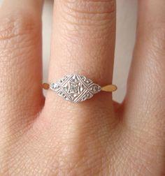 Antique Antique Wedding Ring via Etsy.