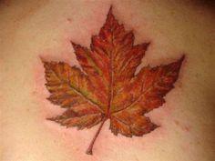 Canadian Maple Leaf Tattoo