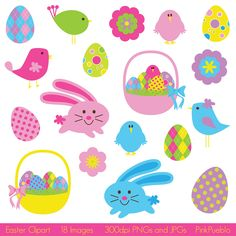 Easter Clipart, Easter Clip Art- Commercial and Personal Use. $6.00, via Etsy.