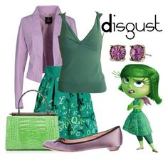 """Disgust from inside out"" by laniocracy on Polyvore featuring Siste's, Olympia Le-Tan, Dolce&Gabbana, Nancy Gonzalez and Prada"