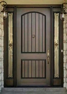 101 Best Interior Door Design Ideas for Stylish and Modern Home front door paint colors – Want a quick makeover? Paint your front door a different color. Here's some inspiration for you. Door Design Interior, Main Door Design, Wooden Door Design, Front Door Design, Interior Modern, Home Design, Exterior Design, Interior Colors, Entry Door With Sidelights