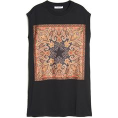 Givenchy Paisley Star Print Muscle Tee ($650) ❤ liked on Polyvore