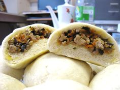 Extra Fluffy Bánh Bao (Vietnamese Steamed Buns):  My absolute favorite Vietnamese snack: A sweet steamed bun with a savory filling consisting of tasty...[read more at Food Frenzy]