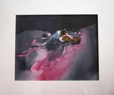 Monika Smyła, 'Flood', watercolor on canvas, polish art