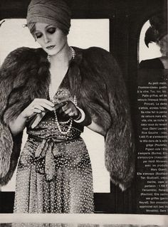 1971 - Yves Saint Laurent Rive Gauche by Sarah Moon for Elle France, December 20 1971