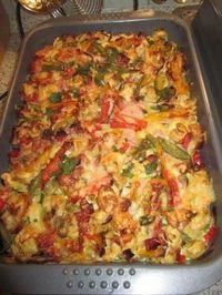 The perfect colorful tortellini casserole recipe with picture and easy step-by-step . - The perfect colorful tortellini casserole recipe with a picture and simple step-by-step instruction - Noodle Recipes, Pizza Recipes, Potato Recipes, Lunch Recipes, Casserole Recipes, Soup Recipes, Dinner Recipes, Mozarella, Food Pictures
