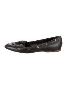 Balenciaga Leather Round-Toe Flats
