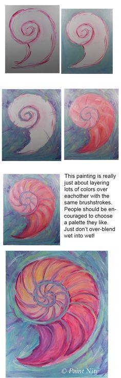 Nautilus Brushes- big flat and medium round colors: Ultra. Blue, yellow, red, white.