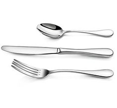 Artaste 59380 Rain 18/10 Stainless Steel Flatware 36-Piece Set, Service for 12  Basic flatware is a must for any kitchen, whether in a restaurant or at home. Try one of our simple, yet elegant stainless steel flatware sets today. 36-piece set includes dinner knife, dinner fork, and teaspoon, 12 of each 36-piece set includes dinner knife, dinner fork, and teaspoon, 12 of each Made from 18/10 stainless steel with extra thick ergonomics handle 36-piece set includes dinner knife, dinner ..