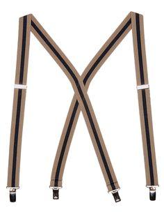 American Apparel - Unisex Stripe Suspender - 1 inch