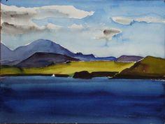 Icelandic artist, Louisa Matthiasdottir  Watercolor