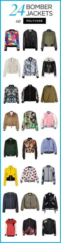 24 Bomber Jackets on Polyvore! Shop all bomber outerwear styles to find a look you love: http://polyv.re/BomberJackets
