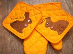 some pot holders for Easter